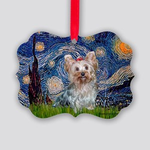 MP-STARRY-Yorkie-Tess Picture Ornament