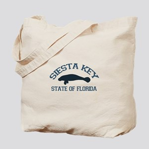 Siesta Key - Manatee Design. Tote Bag