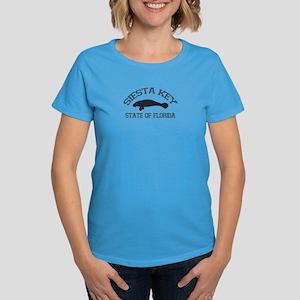 Siesta Key - Manatee Design. Women's Dark T-Shirt
