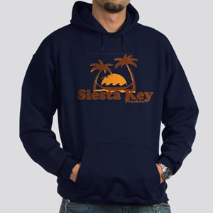 Siesta Key - Palm Trees Design. Hoodie (dark)