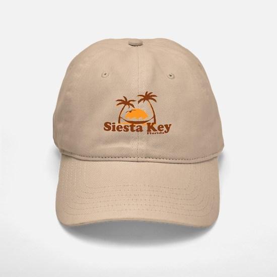 Siesta Key - Palm Trees Design. Baseball Baseball Cap