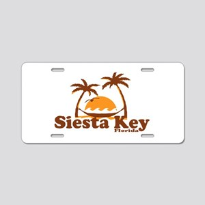 Siesta Key - Palm Trees Design. Aluminum License P