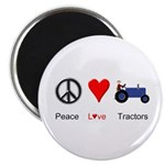 "Peace Love Blue Tractor 2.25"" Magnet (10 pack)"