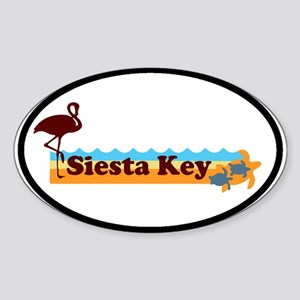 Siesta Key - Beach Design. Sticker (Oval)