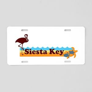 Siesta Key - Beach Design. Aluminum License Plate