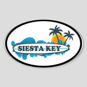 Siesta Key - Surf Design. Sticker (Oval)
