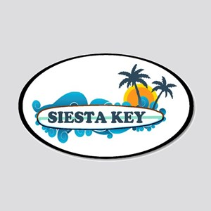 Siesta Key - Surf Design. 20x12 Oval Wall Decal