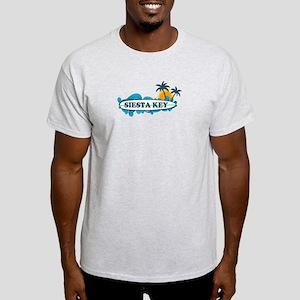 Siesta Key - Surf Design. Light T-Shirt