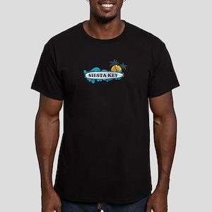 Siesta Key - Surf Design. Men's Fitted T-Shirt (da