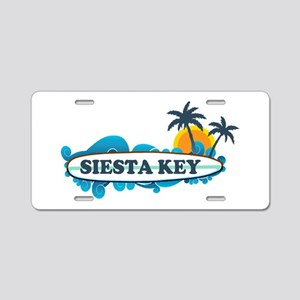 Siesta Key - Surf Design. Aluminum License Plate