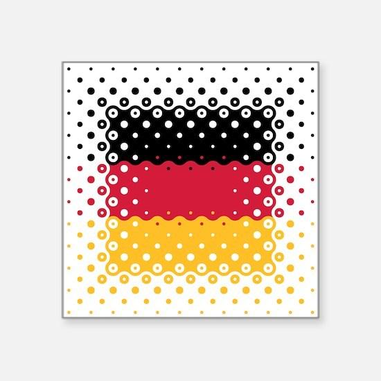 Flag of Germany / Deutschlandflagge Square Sticker