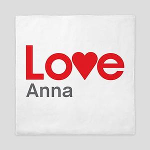I Love Anna Queen Duvet