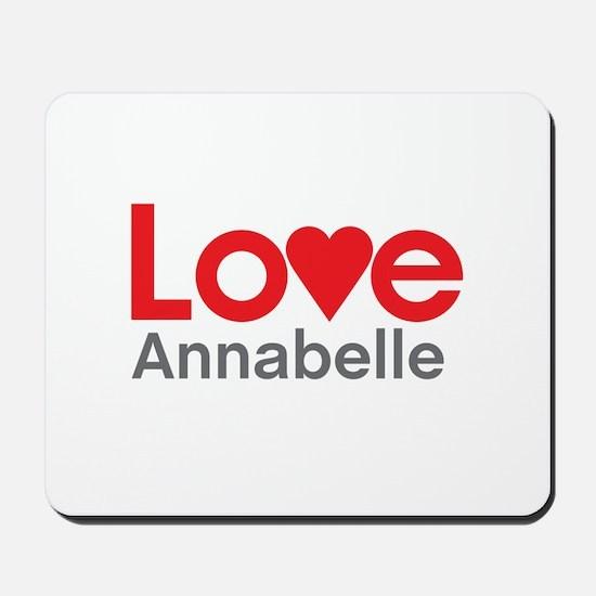I Love Annabelle Mousepad