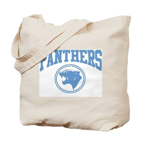 Panther Circle Head LT BLUE Tote Bag