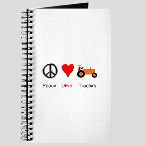Peace Love Orange Tractor Journal