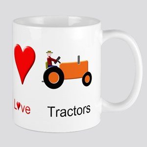 Peace Love Orange Tractor Mug
