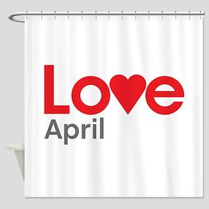I Love April Shower Curtain