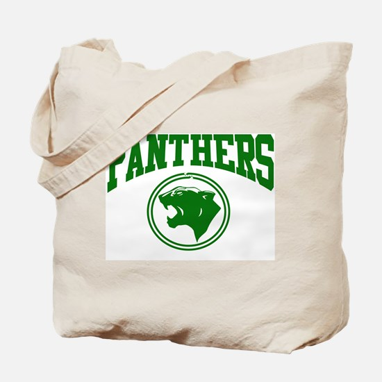 Panther Circle Head KLY GREEN Tote Bag