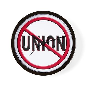 Anti-Union Wall Clock