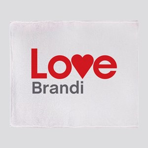 I Love Brandi Throw Blanket