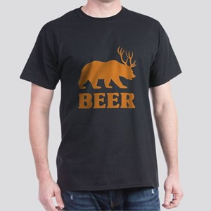 Bear+Deer=Beer Dark T-Shirt