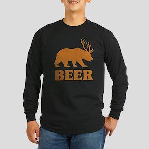 Bear+Deer=Beer Long Sleeve Dark T-Shirt