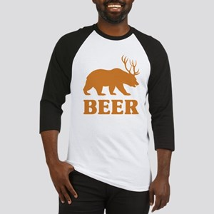 Bear+Deer=Beer Baseball Jersey