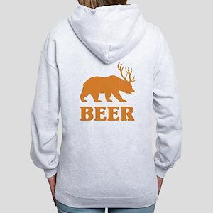 Bear+Deer=Beer Women's Zip Hoodie