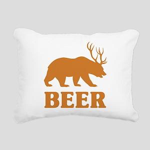 Bear+Deer=Beer Rectangular Canvas Pillow