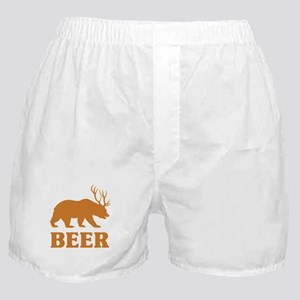 Bear+Deer=Beer Boxer Shorts