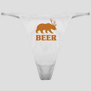Bear+Deer=Beer Classic Thong