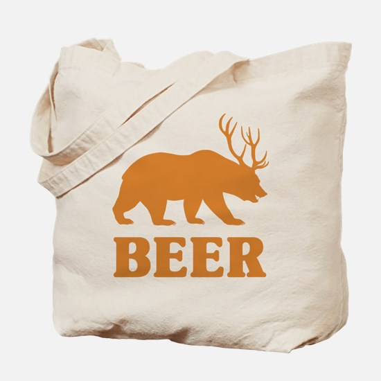 Bear+Deer=Beer Tote Bag