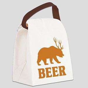 Bear+Deer=Beer Canvas Lunch Bag