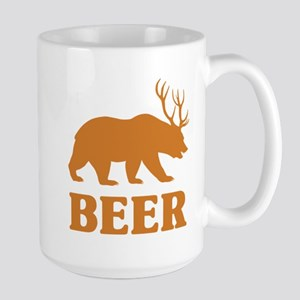 Bear+Deer=Beer Large Mug