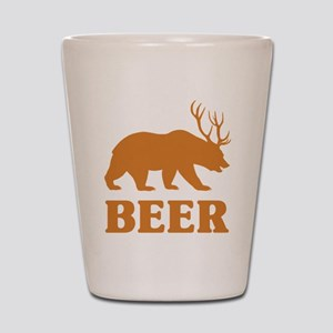 Bear+Deer=Beer Shot Glass