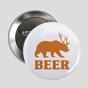 "Bear+Deer=Beer 2.25"" Button"