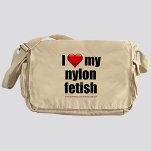 """Love My Nylon Fetish"" Messenger Bag"