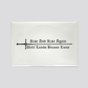 Rise and Rise Again Rectangle Magnet