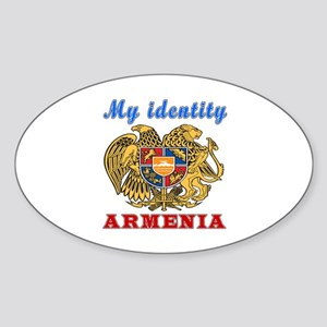 My Identity Armenia Sticker (Oval)