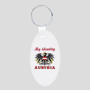 My Identity Austria Aluminum Oval Keychain