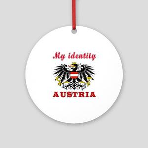 My Identity Austria Ornament (Round)