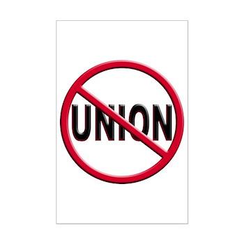 Anti-Union Mini Poster Print