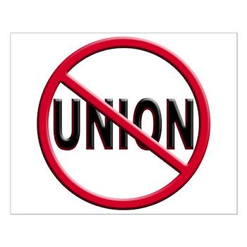 Anti-Union Small Poster