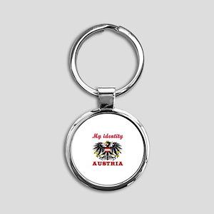 My Identity Austria Round Keychain