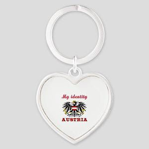 My Identity Austria Heart Keychain
