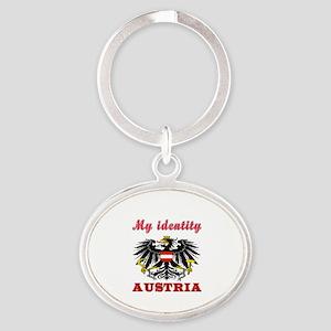 My Identity Austria Oval Keychain