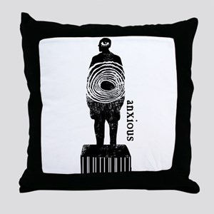 anxious Throw Pillow