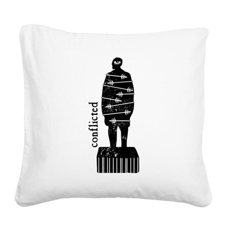 conflicted Square Canvas Pillow