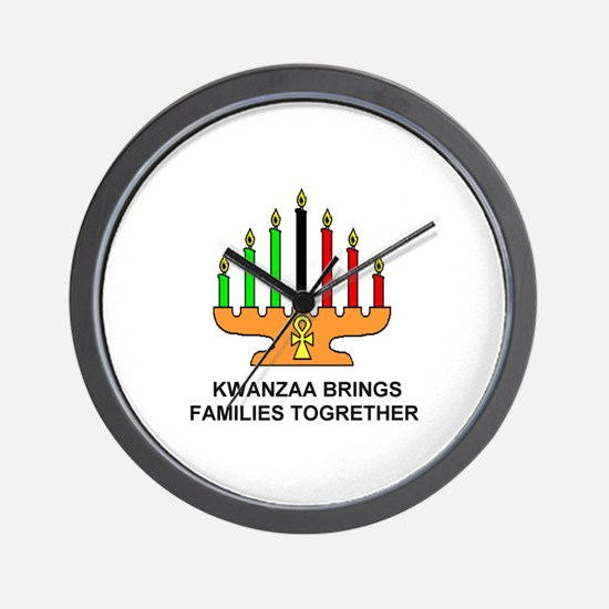 Kwanzaa Brings Families Togrether Wall Clock