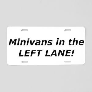 Mini Vans In The Left Lane Aluminum License Plate